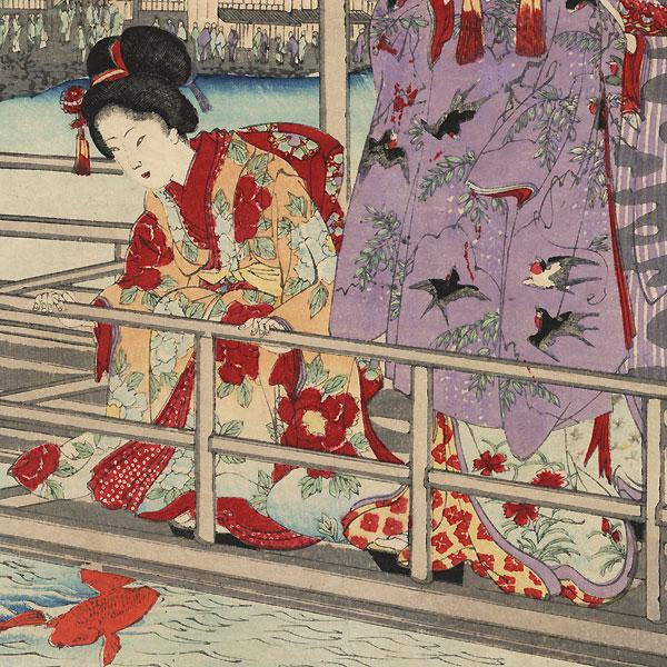 An Excursion to Asakusa Park, 1891 by Chikanobu (1838 - 1912)