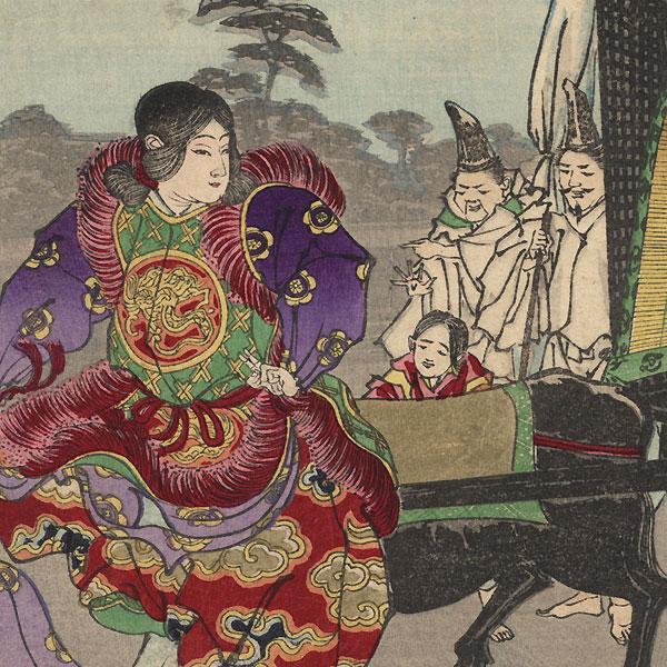 Fujiwara Sosuke Dancing by Ginko (active 1874 - 1897)