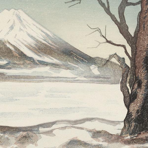 Mt. Fuji in Winter by Shin-hanga & Modern artist (not read)