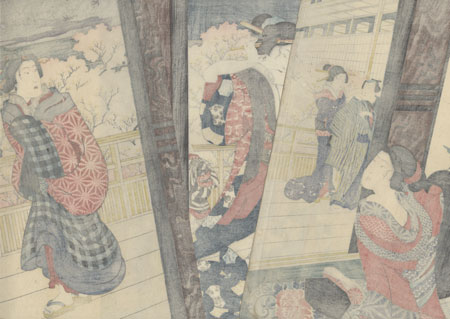 Parting after a Short Sleep, 1860 by Yoshitoshi (1839 - 1892)