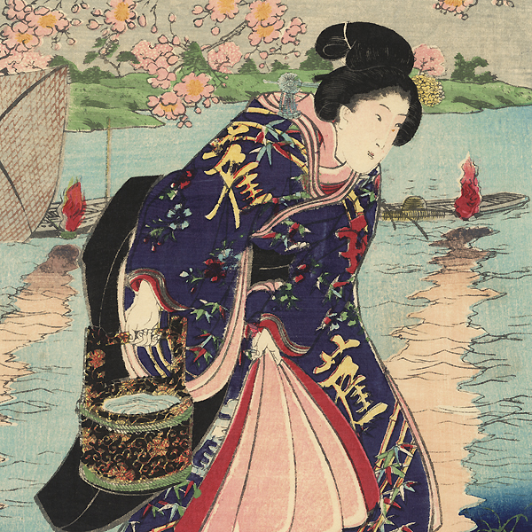 Fire: The Fishing Fire, 1852 by Kuniyoshi (1797 - 1861)