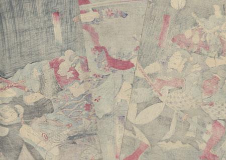 The Shitenno Battling Kidomaru, 1861 by Yoshitsuya (1822 - 1866)
