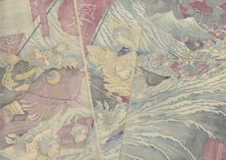 Saigo Takamori Attacking the Dragon Castle, 1877 by Yoshitoshi (1839 - 1892)