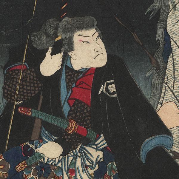 Akamatsu Jutamaru Takanori and the Ghost of Yaehatahime, 1866 by Yoshitoshi (1839 - 1892)