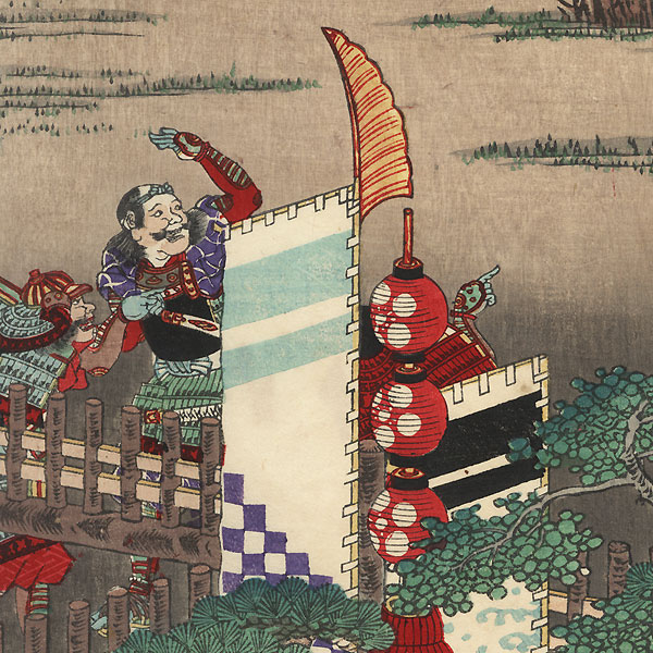 Outside a Castle by Yoshitsuya (1822 - 1866)