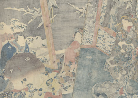 Plum Blossoms and Snow through the Window, the Nature of Youth, 1847 - 1852 by Toyokuni III/Kunisada (1786 - 1864)