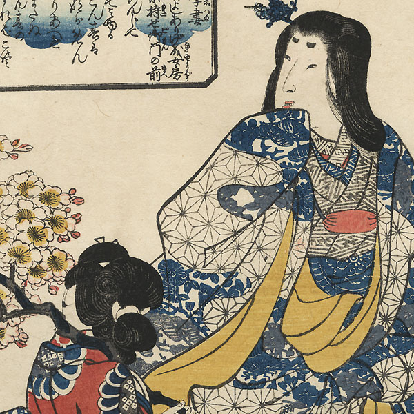 The Wife of Kajiwara Genta Kagesue by Kuniyoshi (1797 - 1861)