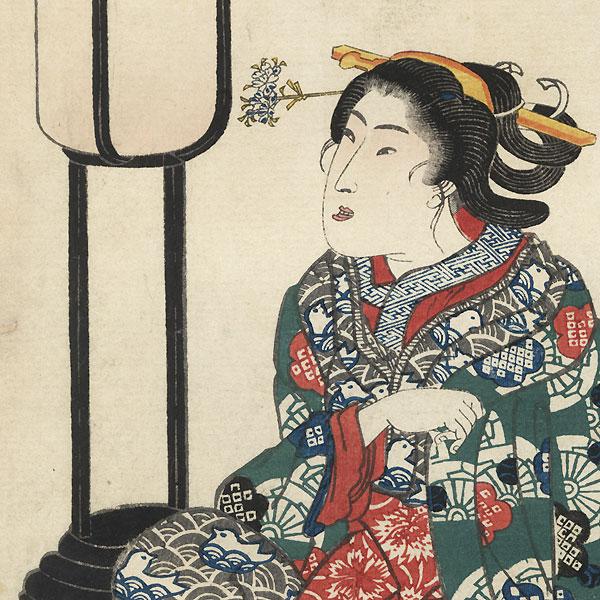 Izutsu-hime by Kuniyoshi (1797 - 1861)