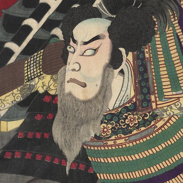 Ichikawa Danjuro as Kato Kiyomasa, 1878 by Chikanobu (1838 - 1912)