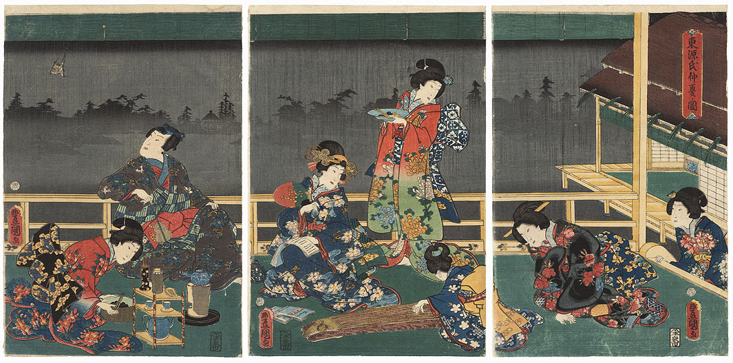 Eastern Genji in Midsummer, 1860 by Toyokuni III/Kunisada (1786 - 1864)