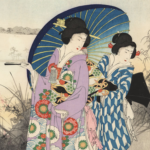 Strolling Beauties by Kokunimasa (1874 - 1944)