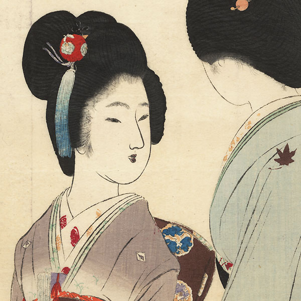 Autumn Colors Kuchi-e Print, 1902 by Tomioka Eisen (1864 - 1905)