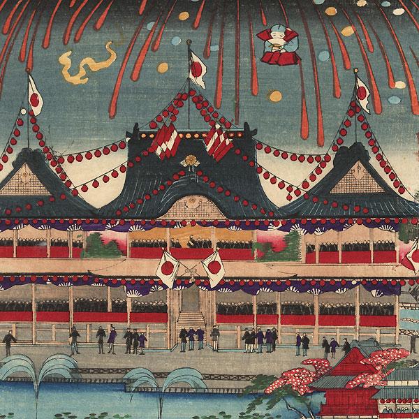Horse Racing at Ueno, Tokyo, 1884 by Chikanobu (1838 - 1912)