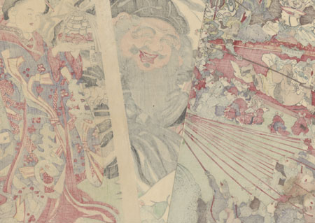 Daikoku Drawing a Lottery, 1876 by Kyosai (1831 - 1889)