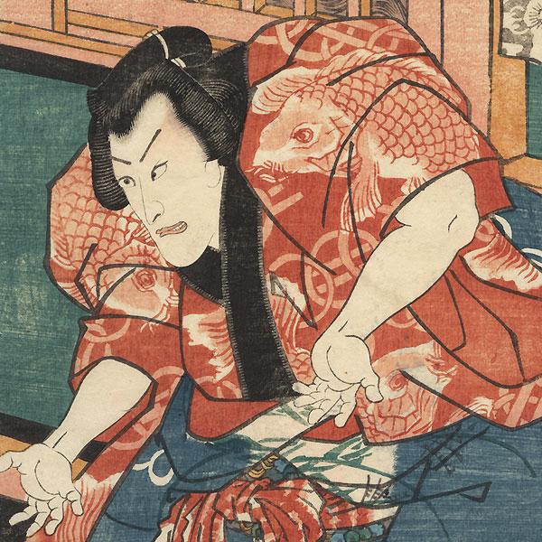 Rival Sumo Wrestlers Chogoro and Chokichi, 1852 by Toyokuni III/Kunisada (1786 - 1864)