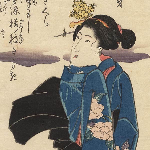 Shizuka-gozen, circa 1845 by Kuniyoshi (1797 - 1861)