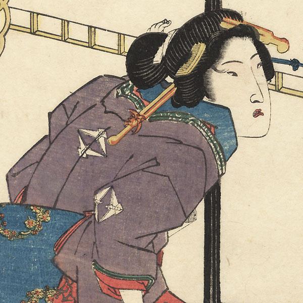 Fukagawa Shinchi by Eisen (1790 - 1848)