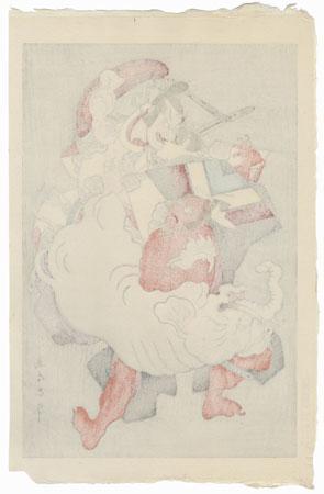 Zohiki (Elephant Pulling) by Tadamasa Ueno (1904 - 1970)