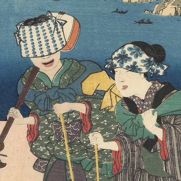 Maisaka: Today's Maritime Scenery, 1855 by Hiroshige (1797 - 1858) and Toyokuni III/Kunisada (1786 - 1864)