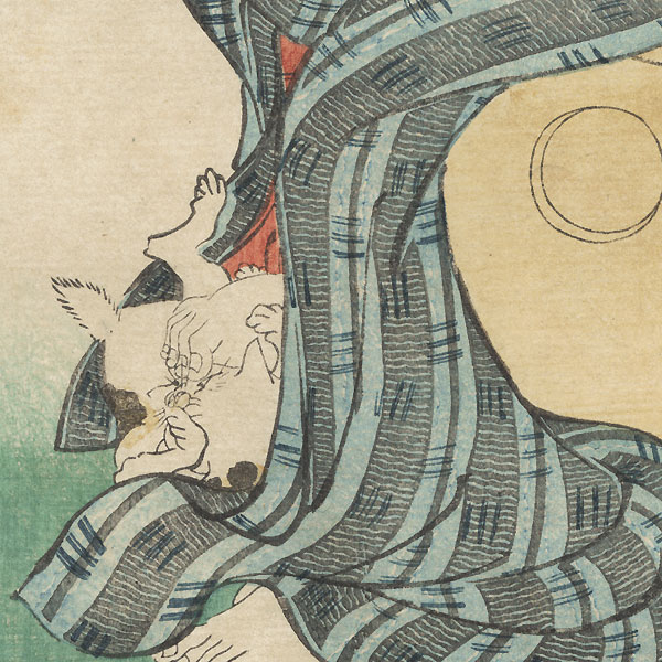 Poem by Ki no Tomonori by Kuniyoshi (1797 - 1861)