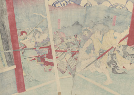 Incident at Honno-ji, 1896 by Nobukazu (1874 - 1944)