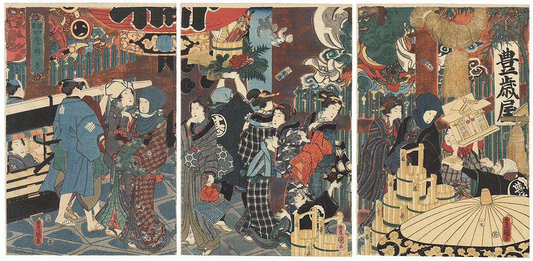 Winter, 1858 by Toyokuni III/Kunisada (1786 - 1864)