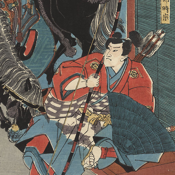 Tora Gozen and the Soga Brothers, 1844 by Toyokuni III/Kunisada (1786 - 1864)