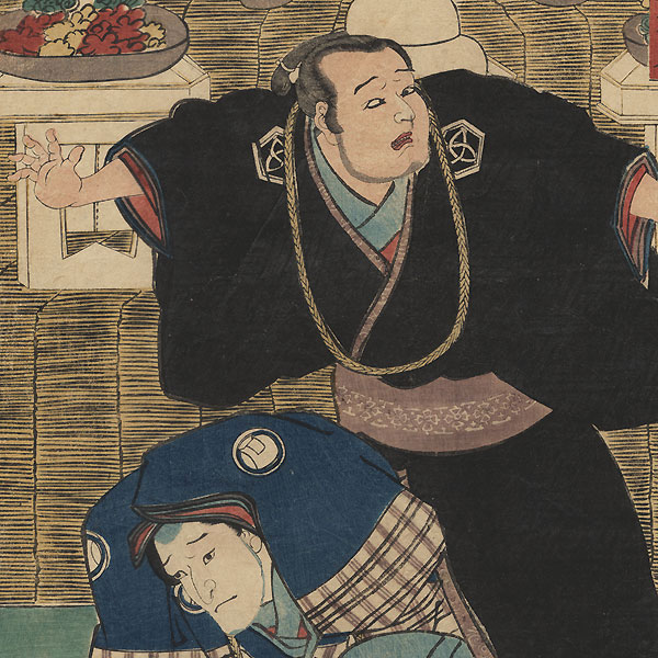 Confrontation Before an Altar, 1852 by Toyokuni III/Kunisada (1786 - 1864)