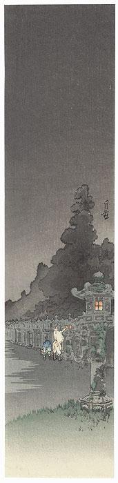 Lighting Snow Lanterns by Yoshimoto Gesso (1881 - 1936)