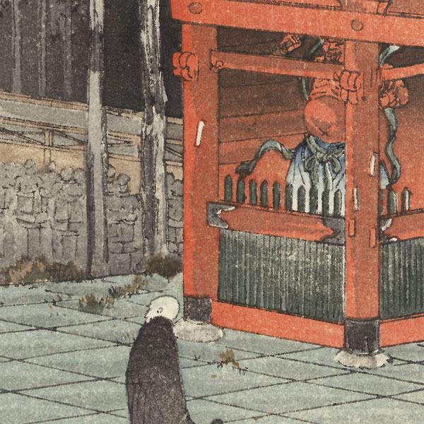 Temple Entrance Gate by Yoshimoto Gesso (1881 - 1936)