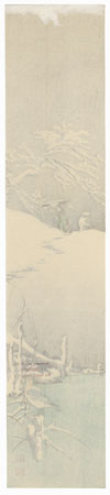 Snowy Embankment by Koho Shoda (1871 - 1946)