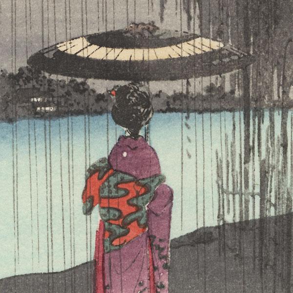 Beauty in the Rain by Koho Shoda (1871 - 1946)