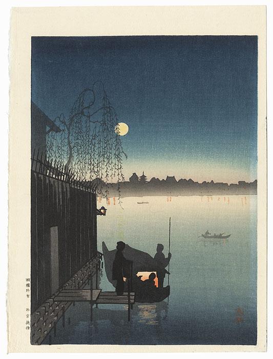 Summer Evening on the Sumida River by Eijiro Kobayashi (1876 - 1940)