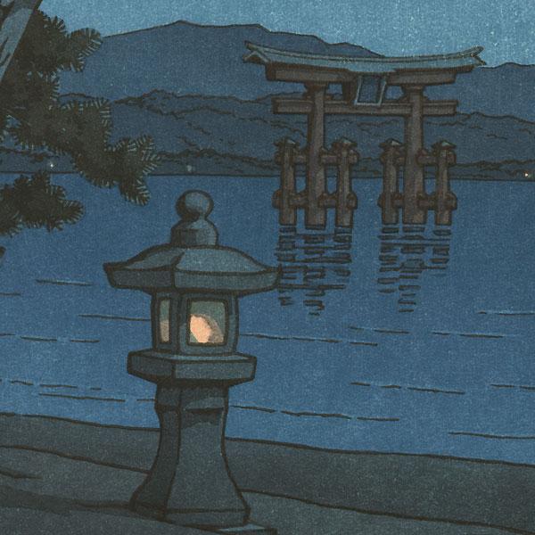 Moonlight Night at Miyajima, 1947 by Hasui (1883 - 1957)
