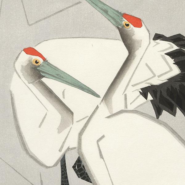 Cranes by Ide Gakusui (1899 - 1982)