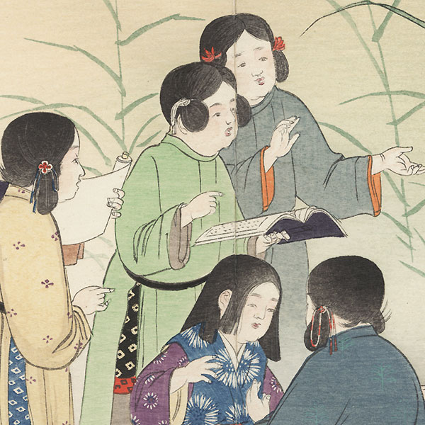 Chinese Children by Meiji era artist (not read)