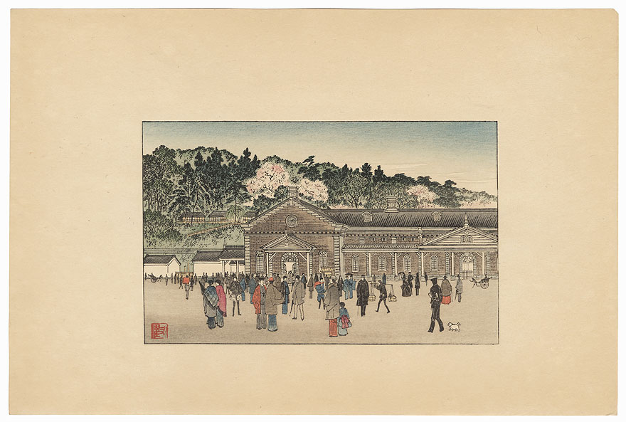 Spring View by Meiji era artist (not read)