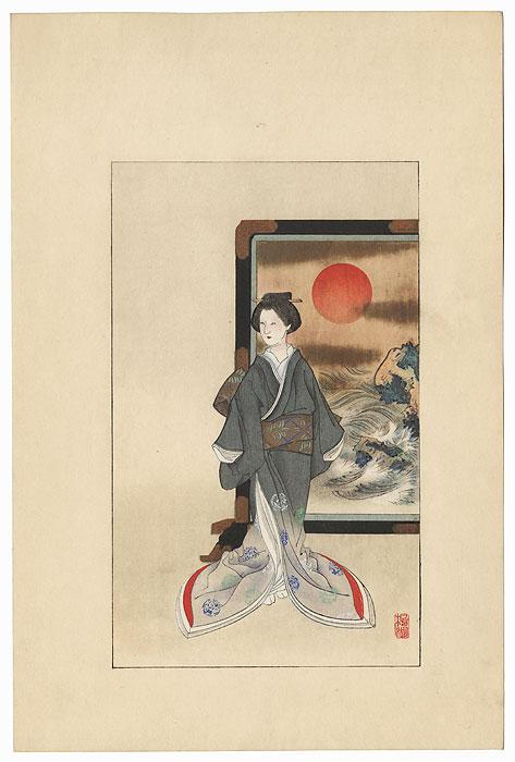 Geisha by Meiji era artist (not read)