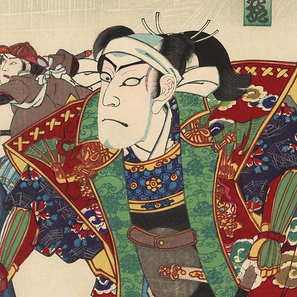 The Battle of Ueno, 1890 by Kunisada III (1848 - 1920)