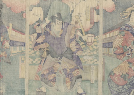 Angry Monks in the Yoshiwara by Kunisada II (1823 - 1880)