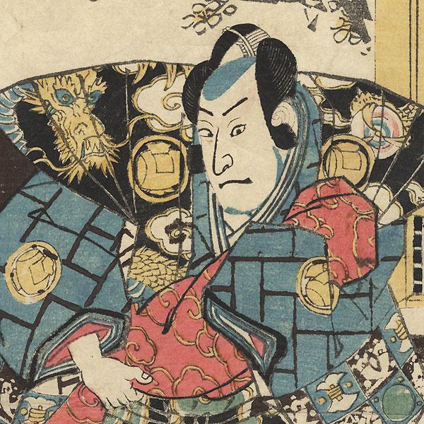 Samurai in a Dragon Kamishimo, 1847 - 1852 by Toyokuni III/Kunisada (1786 - 1864)