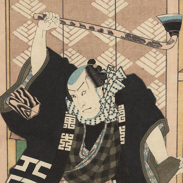 Fireman an Axe, 1857 by Toyokuni III/Kunisada (1786 - 1864)