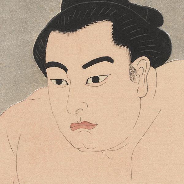 Sumo Wrestler by Gihachiro Okuyama (1907 - 1981)