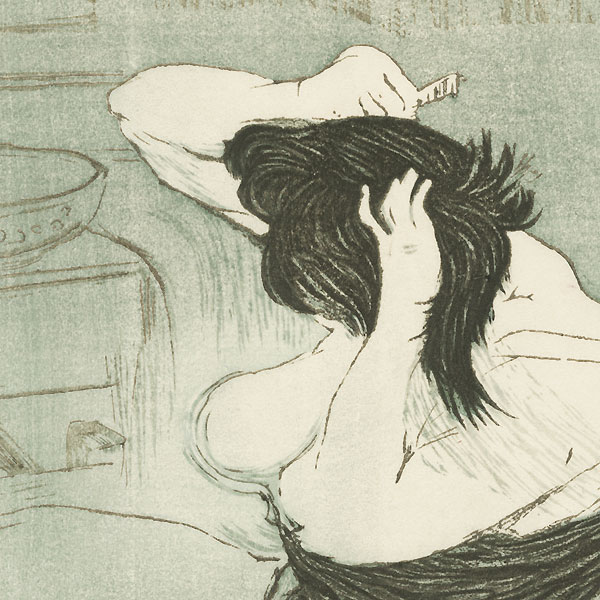 Woman Combing Her Hair after Toulouse-Lautrec, 1960 by Gihachiro Okuyama (1907 - 1981)