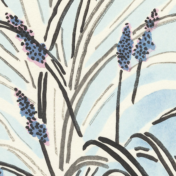 Tiny Blossoms and White Leaves by Tanaka Kichinosuke (1897 - ?)
