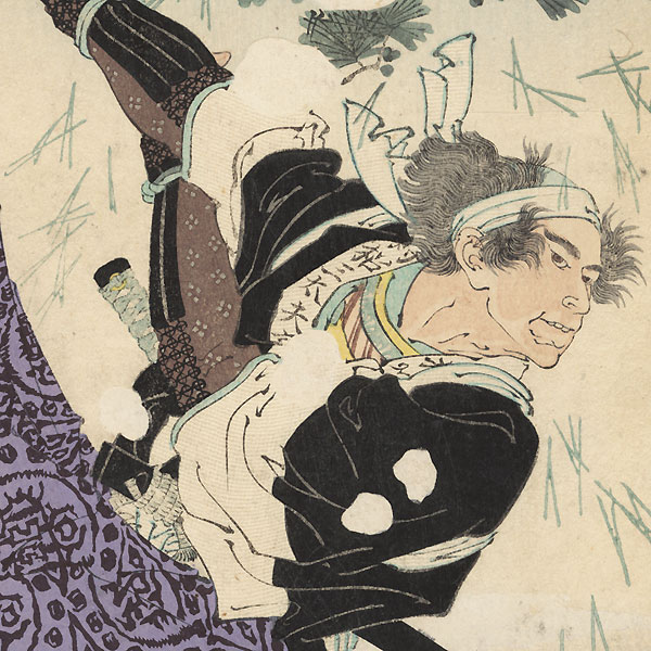 Tumbling Backwards in the Snow by Toshihide (1863 - 1925)