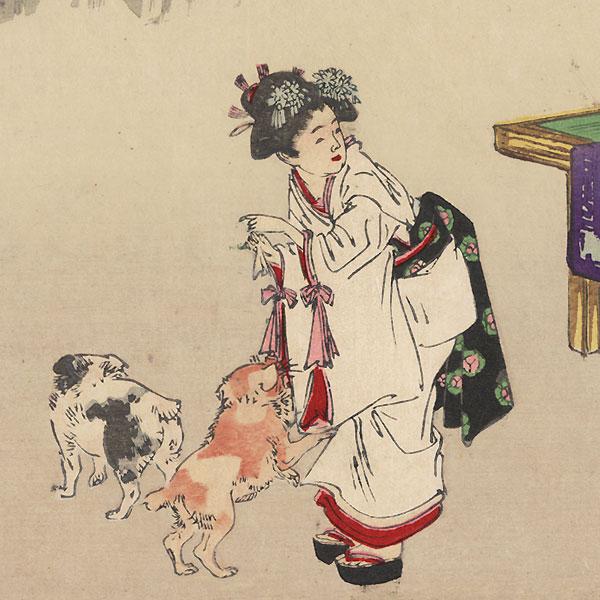 August: Oiran by Gekko (1859 - 1920)
