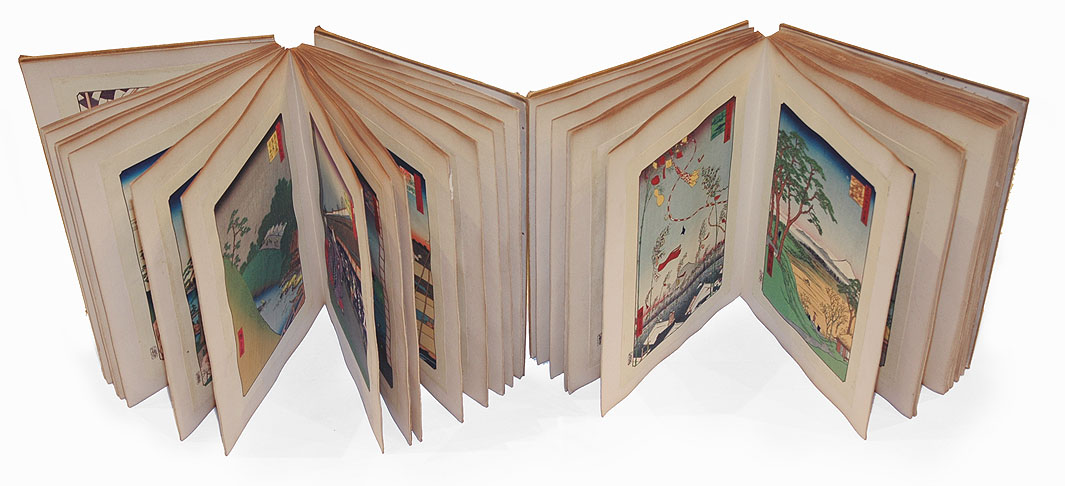 Complete Hundred Famous Views of Edo Set, in Two Bound Volumes with 118 Woodblock Reprints by Hiroshige (1797 - 1858)