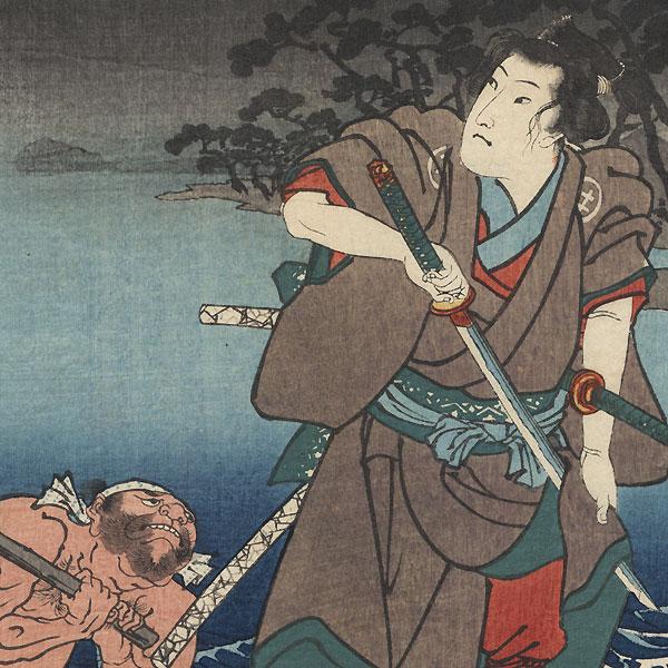 Shinagawa: Shirai Gonpachi by Kuniyoshi (1797 - 1861)