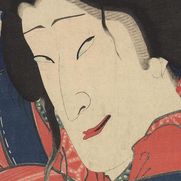 Sawamura Tanosuke III as the Courtesan Shikishima, 1869 by Kunichika (1835 - 1900)